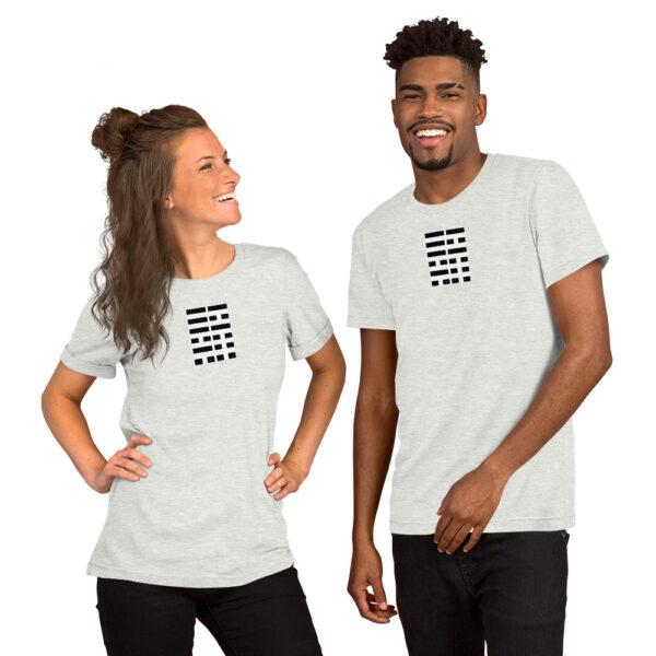 South Korea Korean Flag 4 Black Symbols Trigrams Bars Unisex Men's Women's Premium T-Shirt